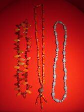 Lotto Bigiotteria Vintage anni '50–3 collane con pietre dure o pietre bijoux (2)