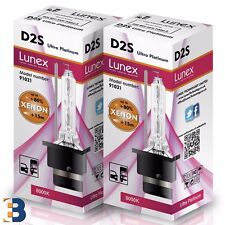 2 x D2S Genuine LUNEX XENON BULB P32d-2 35W Original 8000K Ultra Platinum +50%