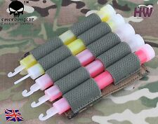 AIRSOFT LIGHT GLOW STICK MOLLE POUCH CHEST RIG BELT AOR2 HOLDER
