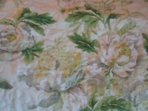 New Waverly Quilted Pillow Sham Spring Bling Pkaufmann Yellow Green Roses