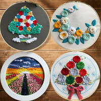 Cross Stitch Kits for Starter Hand Embroidery art for Hanging Wall Decoration