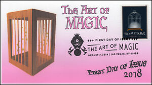 18-219, 2018, The Art of Magic, Pictorial Postmark, First Day Cover, Cage