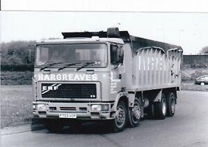 B/W PHOTO: HARGREAVES ERF E8 8 WHEEL BULK TIPPER - F703 VCP