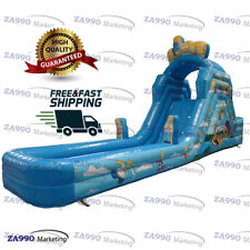 26x6.6ft Piscina Inflable Los Simpsons diapositiva & Agua Soplador de aire Inflable con