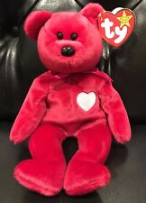 """1998 Rare TY Beanie Babies """"Valentina"""" Bear With 4 Errors - Mint Condition"""