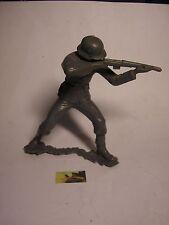 Soldatino Toy Soldier Gigante Marx originale marcato Fante plastica cm 14,5
