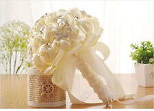 Champagne Wedding Bridesmaid Bouquets Rose Silk Real Touch Flower Bridal Bouquet