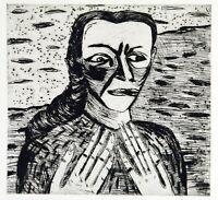 """Kunst in der DDR. """"Tränen nicht"""" 1985. Radg. Wolfgang SMY (*1952 D) handsigniert"""