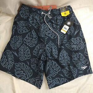 SPEEDO Swim Trunks Palm Leaf 2-Way Stretch Water Repellant Shorts Men's SizeS