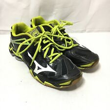 Mizuno Wave Lightning RX3 Womens 9 Green Black Athletic Running Lace Up Shoes