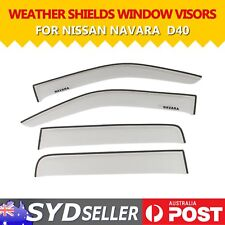 Clear Window Visor Guard Weathershield Weather Shields For Nissan NAVARA D40 UTE