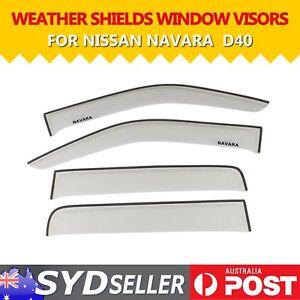 For Nissan NAVARA D40 UTE Clear Weathershield Weather Shields Window Sun Visor