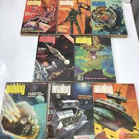 Analog Science Fiction Magazine Lot of 8 Issues 1970s 1977 1978 Sci Fi Pulp