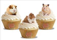 12 nouveauté cobaye trio mix comestibles gâteau toppers décorations mignon peluche enfants