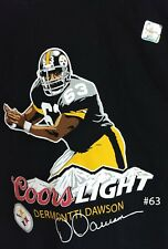 PITTSBURGH STEELERS NFL DERMONTTI DAWSON T-SHIRT coors light XL