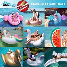 Giant Inflatable Flamingo Unicorn Swan Pool Float Raft Swimming Lounge Toy Bed