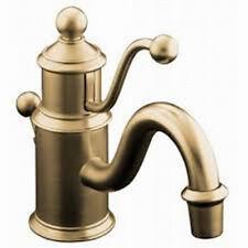 Kohler Antique Single-hole bathroom sink faucet with lever handle K-139-BV