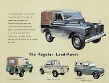LAND ROVER 1957-1958 SERIES-I '88' RETRO POSTER BROCHURE CLASSIC ADVERT A3