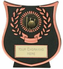 Emblems-Gifts Curve Bronze Cricket Plaque Trophy With Free Engraving