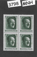 #3798   MNH 1937 Adolf Hitler stamp block PF06 Third Reich era Germany B102