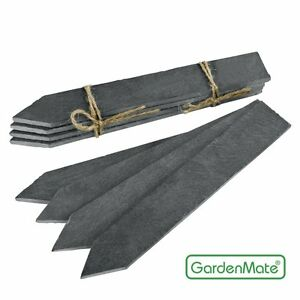 GardenMate Boucliers D' Herbe Fiche De L'Herbe Pflanzschild Ardoise 8er Set XL