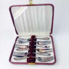 Vintage Boxed Set of 6 GROSVENOR EPNS Cake Desert Sweet Forks Cutlery