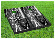 VINYL WRAPS Cornhole Boards DECALS Bicycle Tire BagToss Game Stickers 346
