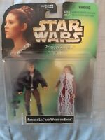 RARE Star Wars Princess Leia and Wicket the Ewok BOX ERROR Leia and Han Solo NEW