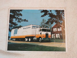 Vintage 1960s-1970s United Van Lines childs frame tray puzzle promotional item