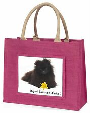 Personalised Name Pomeranian Large Pink Shopping Bag Christmas Pr, AD-PO90DA2BLP