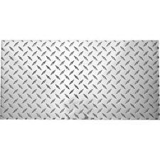 "2 Pk .100 Ga X 12"" X 24"" Diamond Plate Polished Aluminum Sheet N316364"