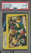1997 Ultra Specialists Insert #5 Brett Favre Packers HOF PSA 10 GEM MINT