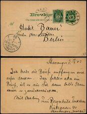 L542 Norway postcard stationery Germany Stavanger Berlin 1903