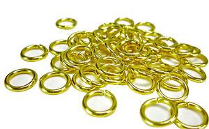 10 Stk Offene Biegeringe Gold 10mm Spaltring Binderinge Federringe Ösen Ringe