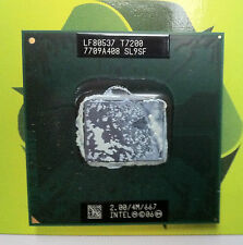 Intel Core 2 Duo T7200 2.00GHz 4M 667MHz Processor CPU SL9SF (508)