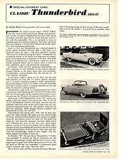 1955-1957 FORD THUNDERBIRD ~ ORIGINAL SPECIAL-INTEREST CARS ARTICLE FROM 1964