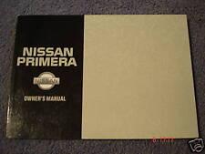 NISSAN PRIMERA Sedán & Hatchback usuario manual - Fecha Octubre 1995