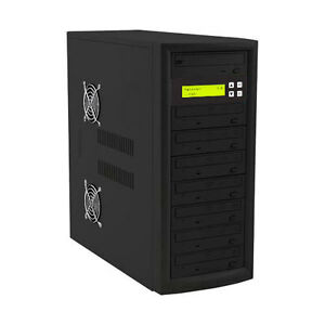 7 Target DVD CD Duplicator Tower Burner Multiple Disc Copier Add Copy Protection