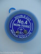 ANCHOR DOUBLE-CUT SHOT-in sizes: AAA/AB /BB/1/ 4/ 6/ 8/ SSG/ 2SSG FISHING TACKLE