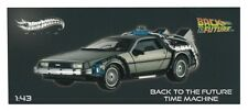 HOT WHEELS ELITE 1/43 BACK TO THE FUTURE TIME MACHINE DELOREAN LIMITED ED X5493