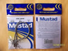 """12 X 3/PACK  MUSTAD WIRE Fishing Leaders SILVER w. snap and swivel 12"""" 60 LB"""