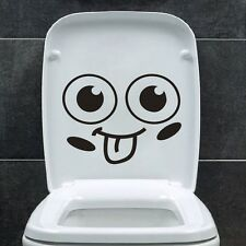 Smile Face  Toilet Decal  Vinyl Wall Mural Art Decor Funny Bathroom WC Sticker