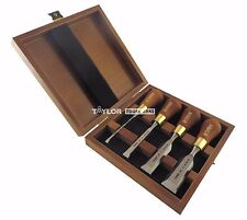 Narex 4 Piece Set Butt Woodworking Chisels in Wooden Presentation Box 853750