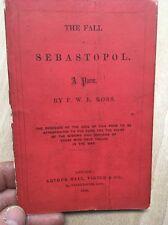 Fall of Sebastopol-F.W.L.Ross Crimea War Arthur Hall,Virtue & Co 1856 Poem Widow