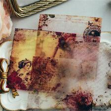 10pcs vintage vellum self-adhesive stickers for scrapbooking card makingDSUK