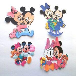 3D Pick New11 Disney Mickey Minnie Donald Baby Pooh Card Scrapbook Embellishment