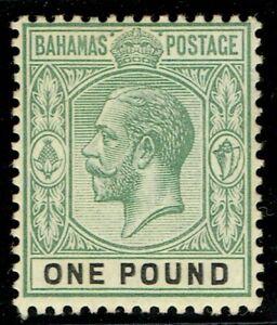 1912 Bahamas £1 Dull Green & Black SG89 Superb Very Lightly MM Cat. £200.00+