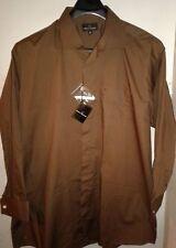 New Stacy Adams Mens Sz 18 1/2 34-35 Dress Shirt French Cuff Hidden Button Front
