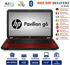 "HP G6-2000 15.6"" Laptop AMD A8-4500U 1.9Ghz 8GB RAM 500GB HD Graphics Windows 10"
