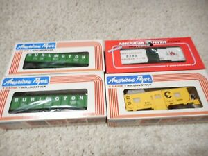 S SCALE AMERICAN FLYER/LIONEL FOUR CAR GROUP